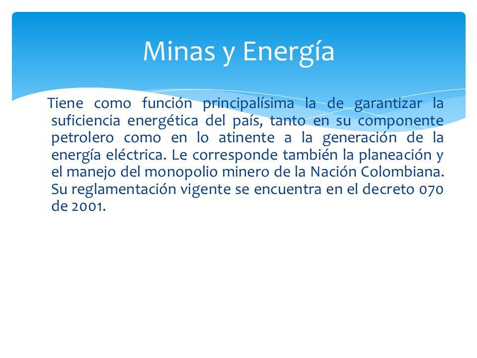Minas y Energía