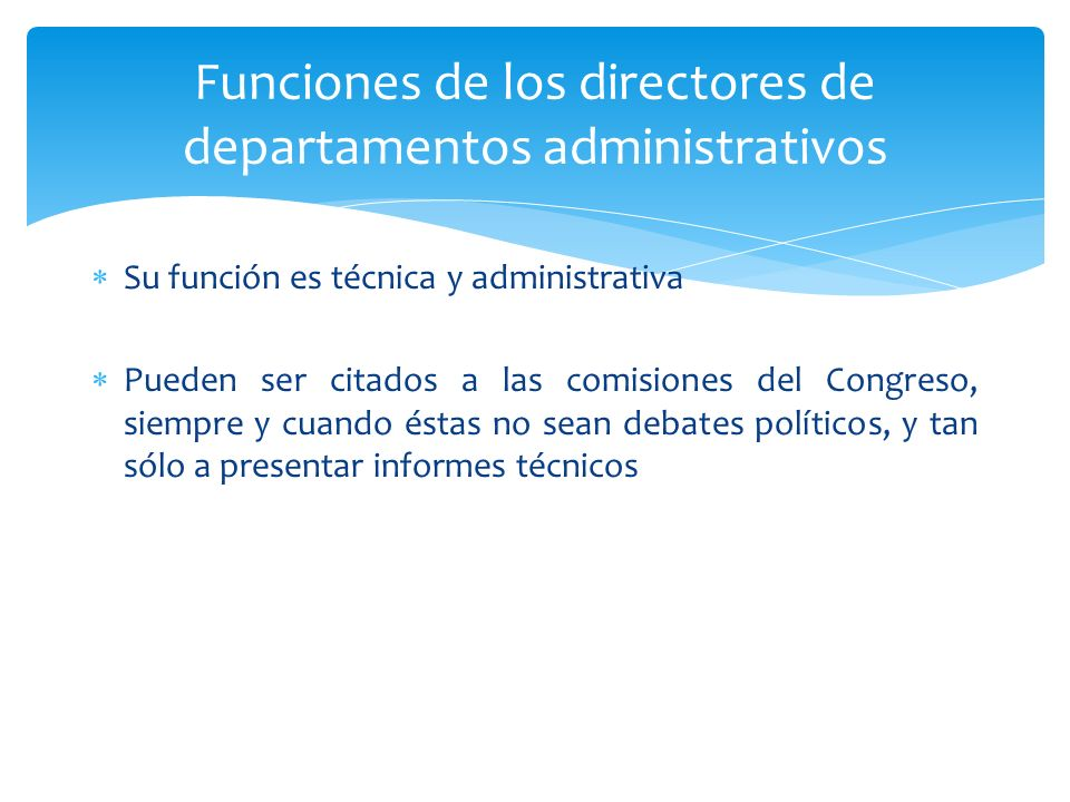 Funciones de los directores de departamentos administrativos