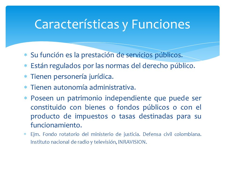 Características y Funciones