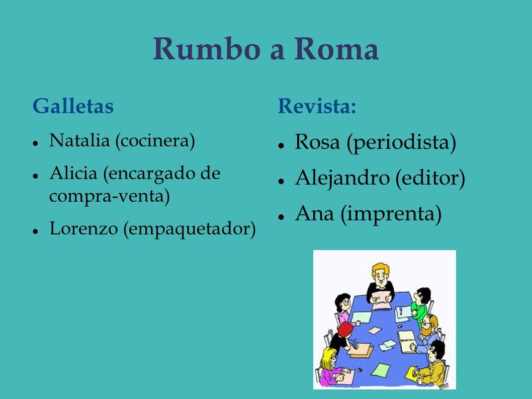 Rumbo a Roma Galletas Revista: Rosa (periodista) Alejandro (editor)