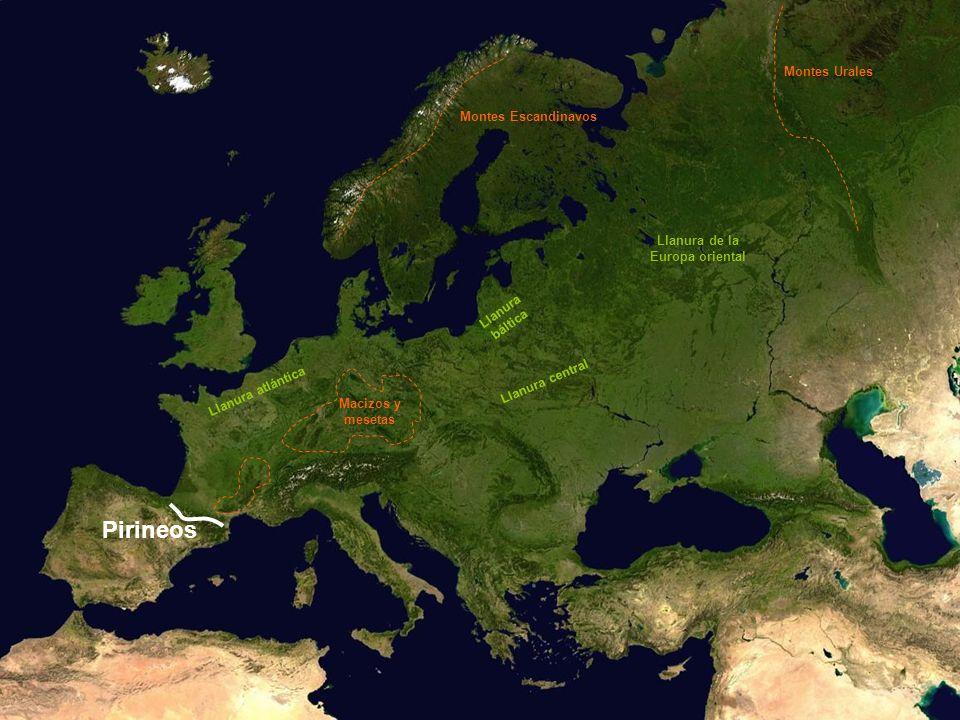 Pirineos Montes Urales Montes Escandinavos Llanura de la