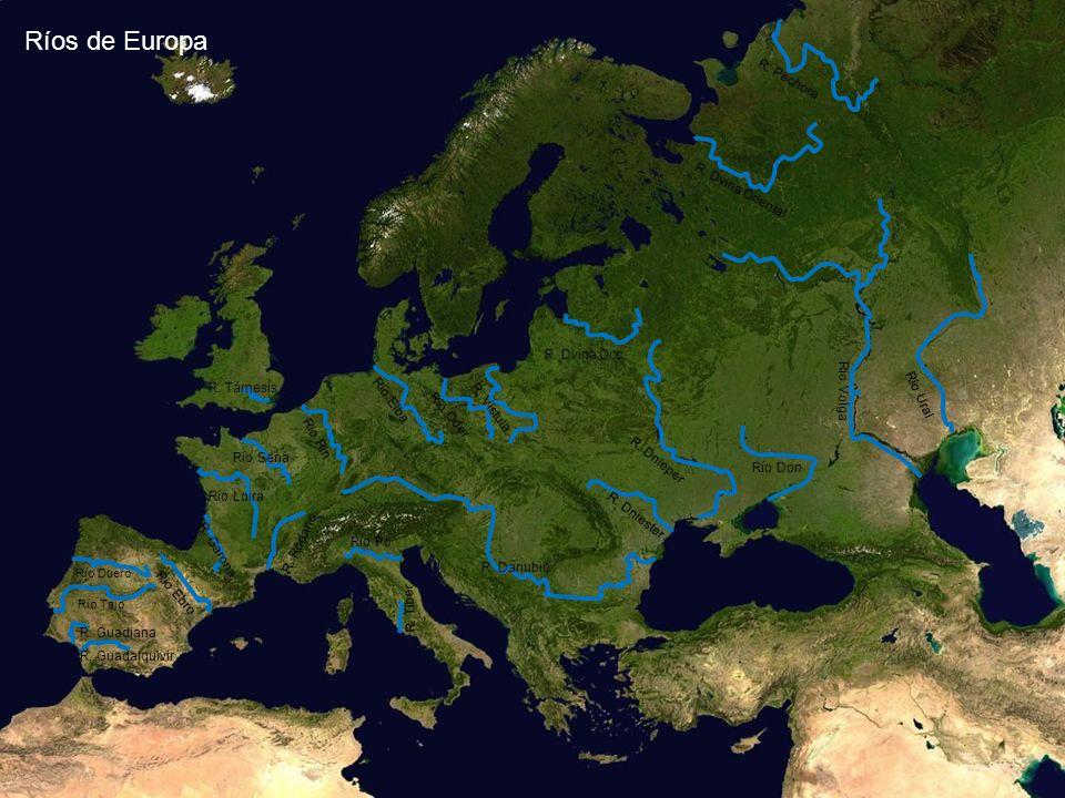 Ríos de Europa R. Pechora R. Dvina Oriental R. Dvina Occ. R. Támesis