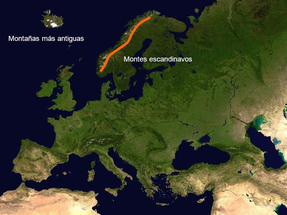 Montañas más antiguas Montes escandinavos