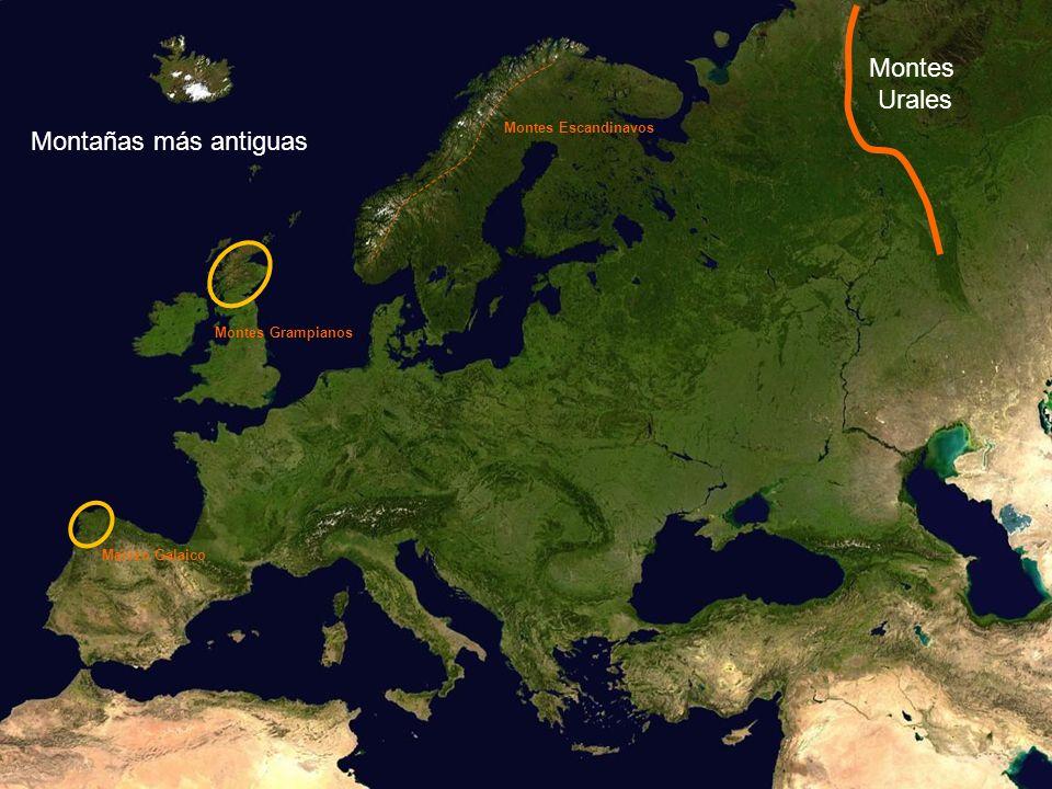 Montes Urales Montañas más antiguas Montes Escandinavos