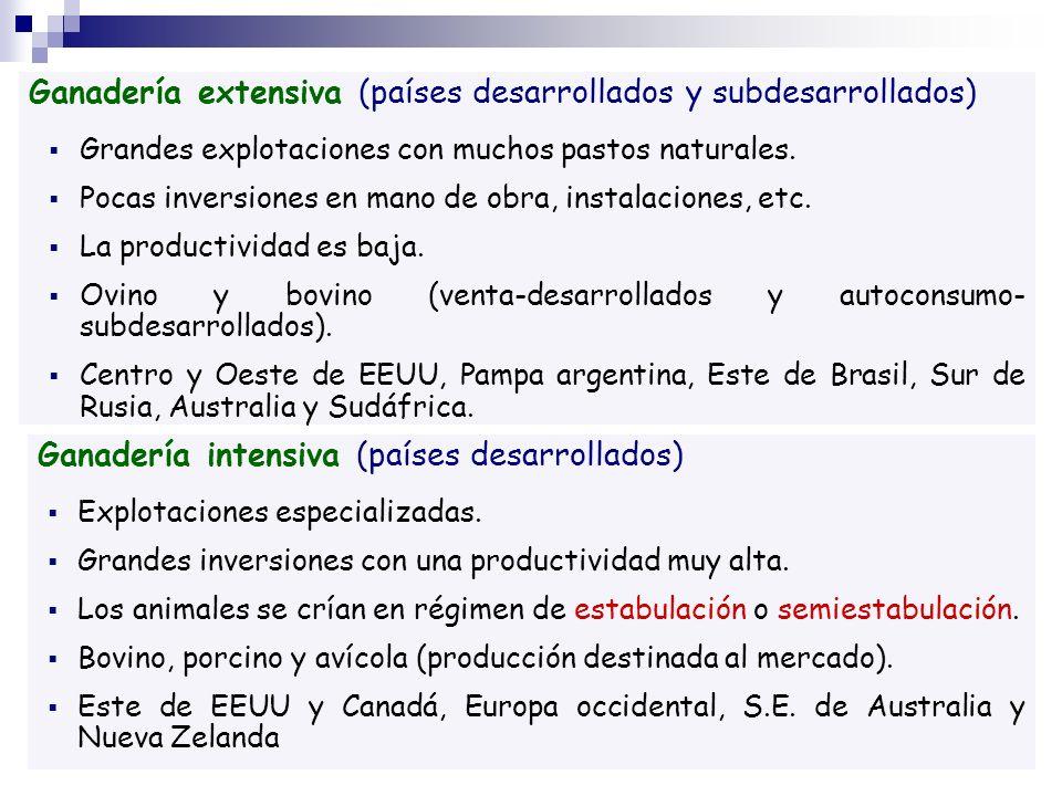 Ganadería extensiva (países desarrollados y subdesarrollados)