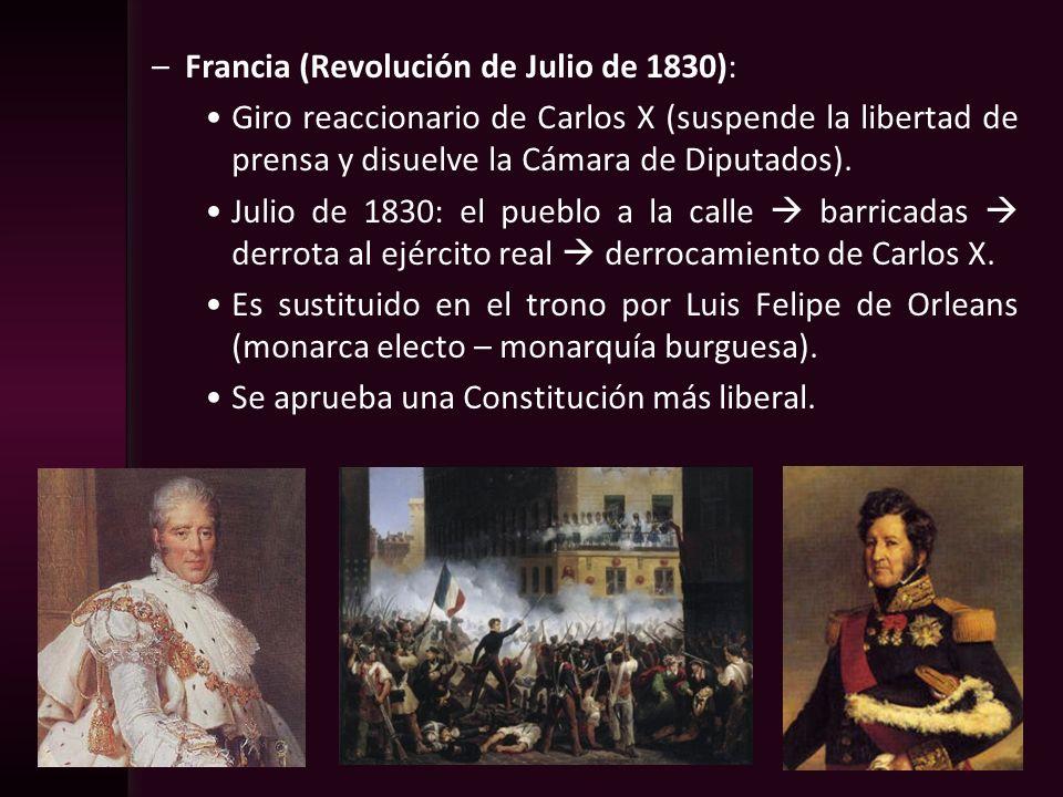 Francia (Revolución de Julio de 1830):