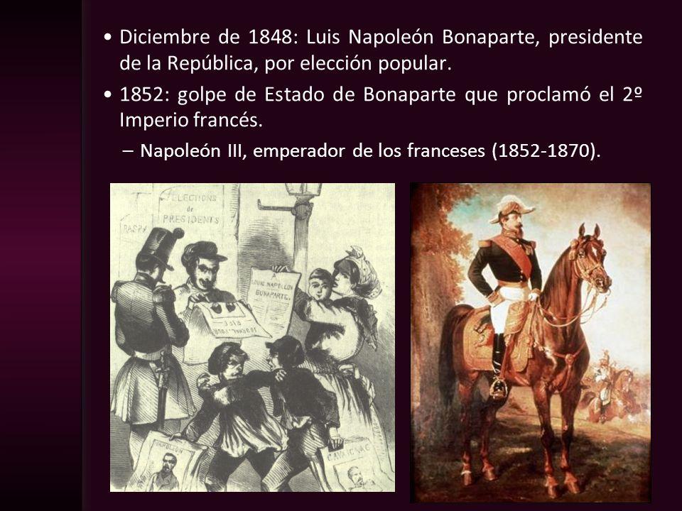 1852: golpe de Estado de Bonaparte que proclamó el 2º Imperio francés.