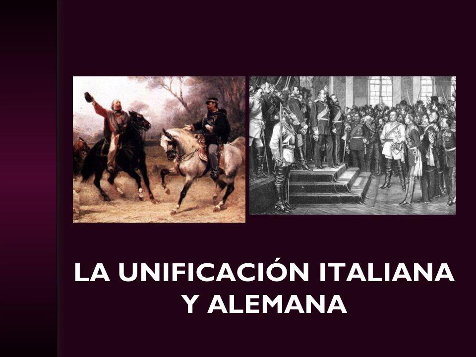 La Unificación italiana y alemana