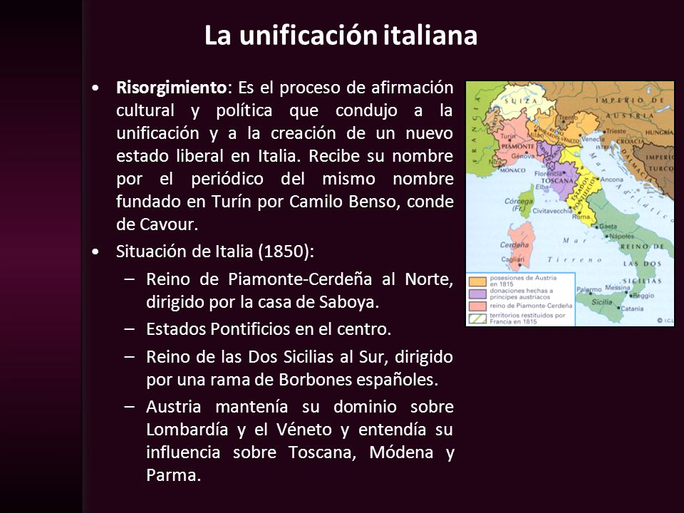 La unificación italiana