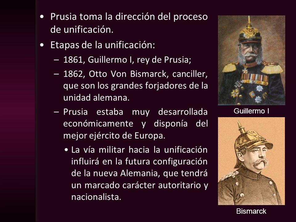 Prusia toma la dirección del proceso de unificación.