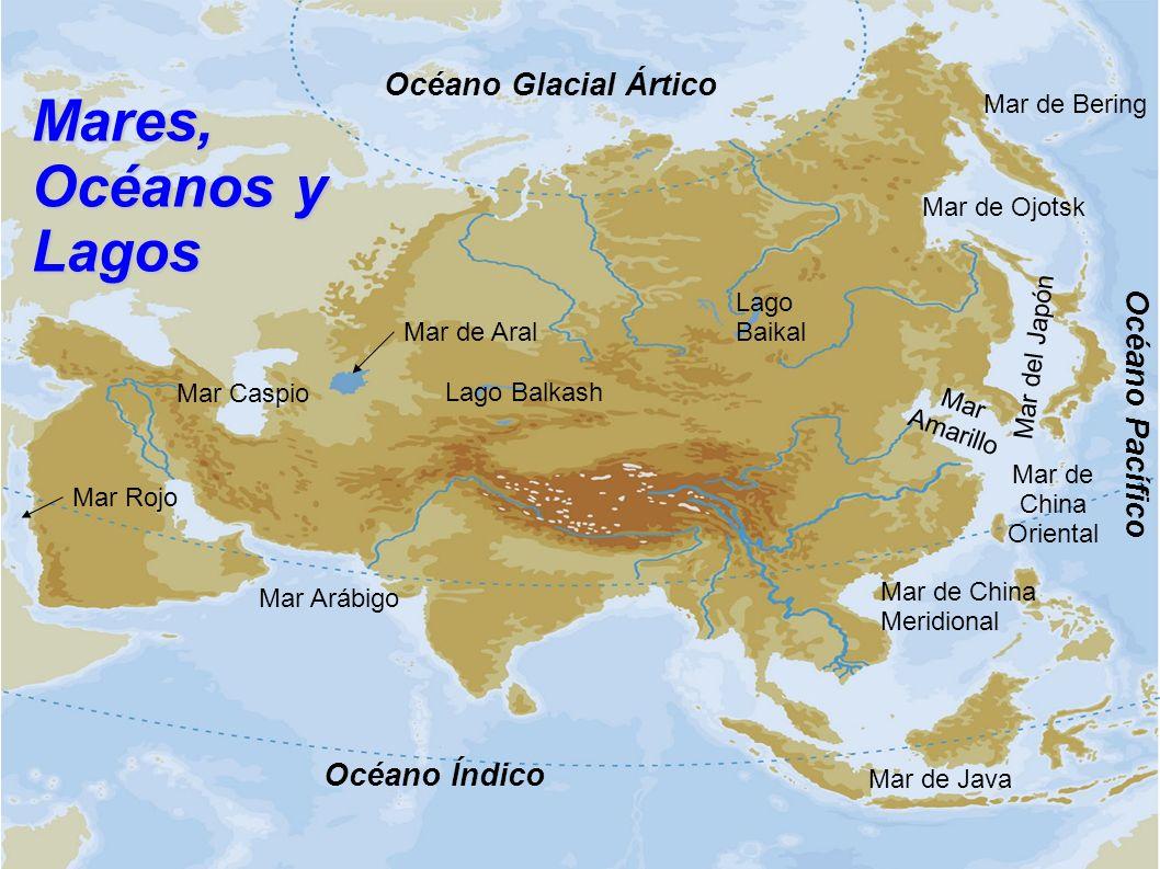 Mares, Océanos y Lagos Océano Glacial Ártico Océano Pacífico