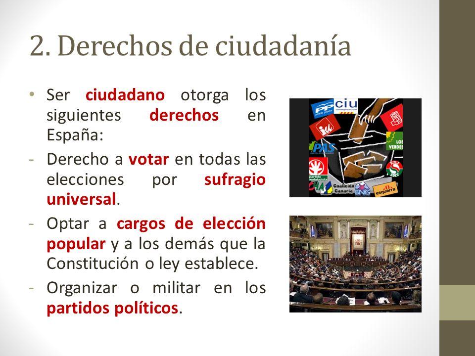 2. Derechos de ciudadanía