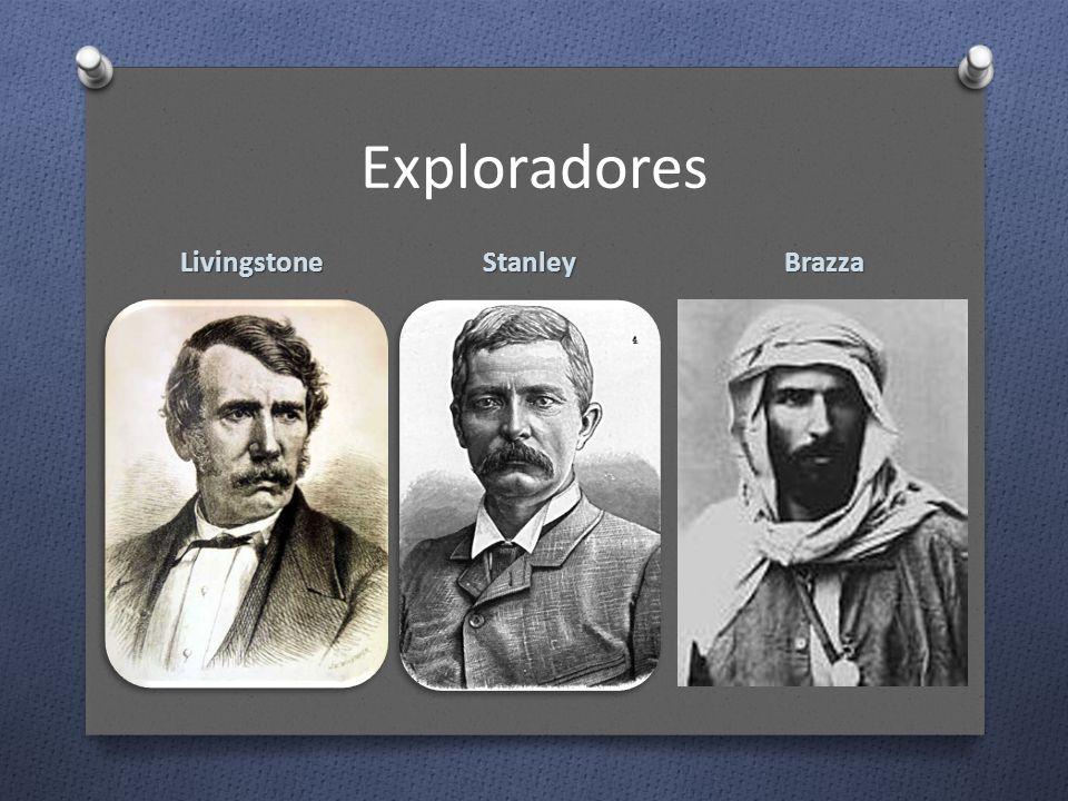 Exploradores Stanley Brazza Livingstone