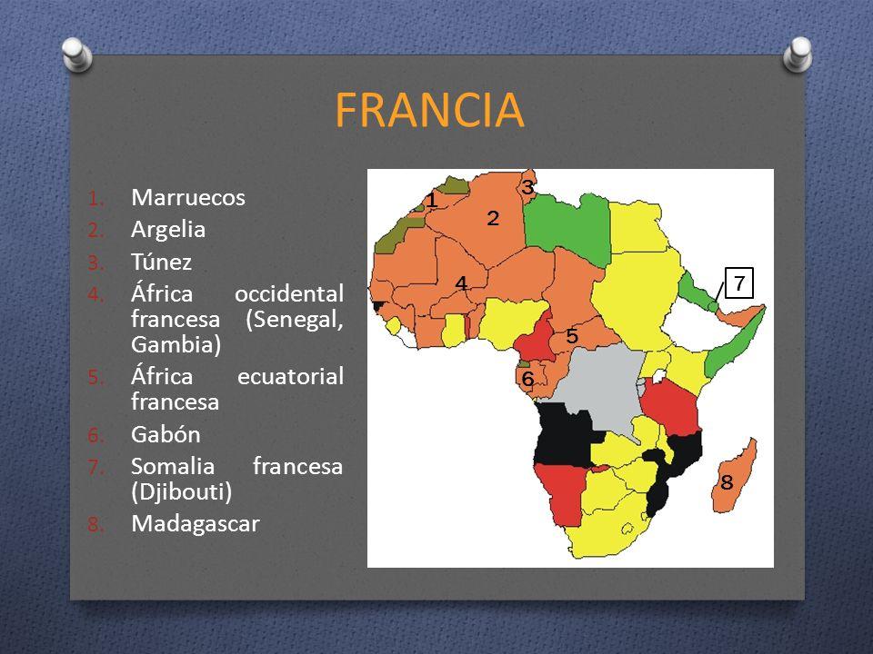 FRANCIA Marruecos Argelia Túnez