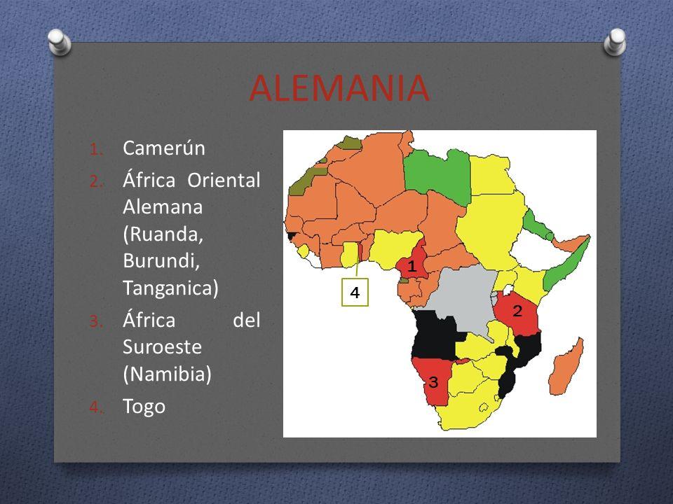ALEMANIA Camerún África Oriental Alemana (Ruanda, Burundi, Tanganica)