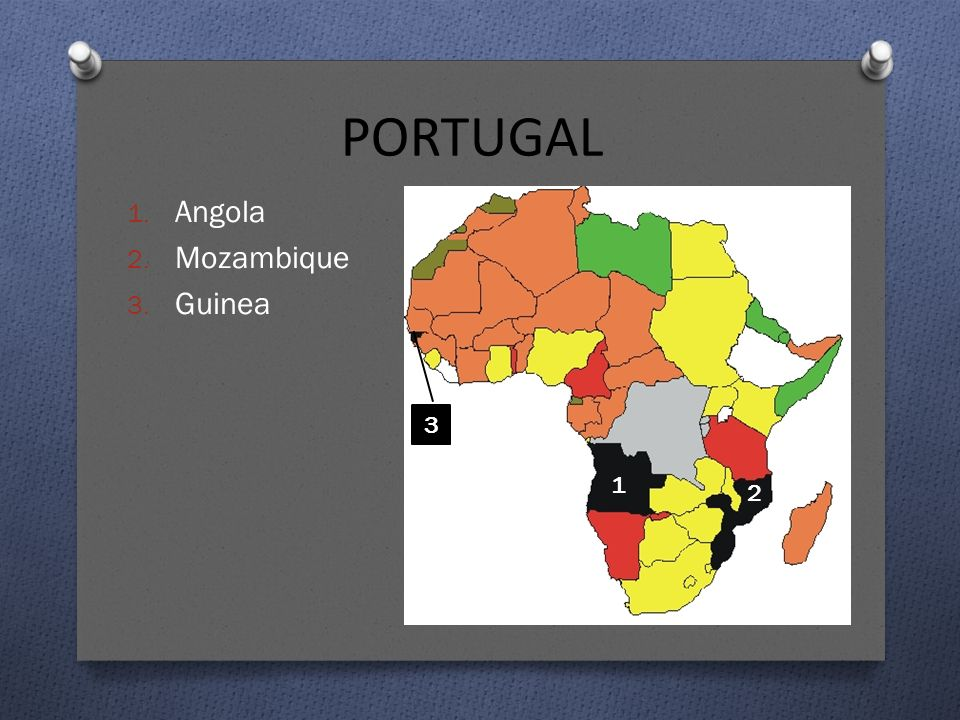 PORTUGAL Angola Mozambique Guinea 3 1 2