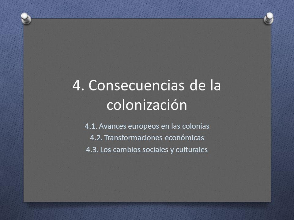 4. Consecuencias de la colonización