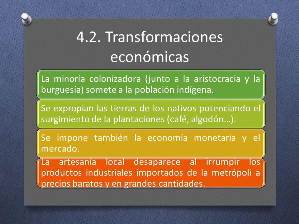 4.2. Transformaciones económicas