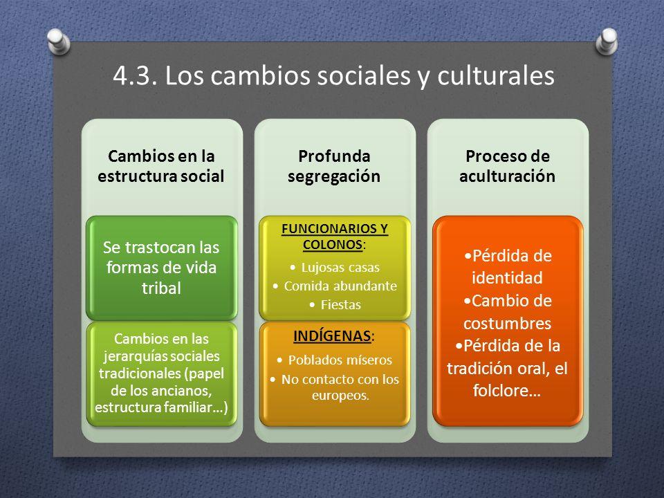 4.3. Los cambios sociales y culturales