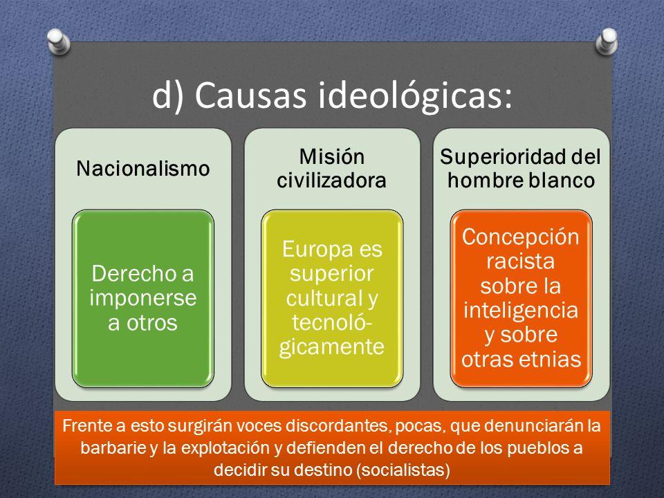 d) Causas ideológicas: