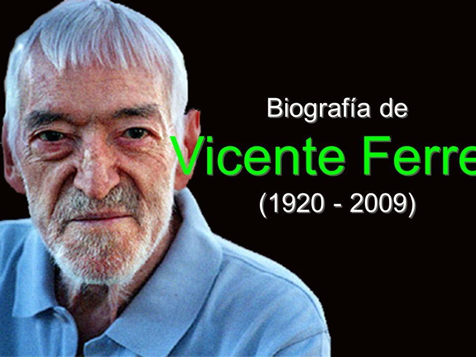 Biografía de Vicente Ferrer (1920 - 2009)