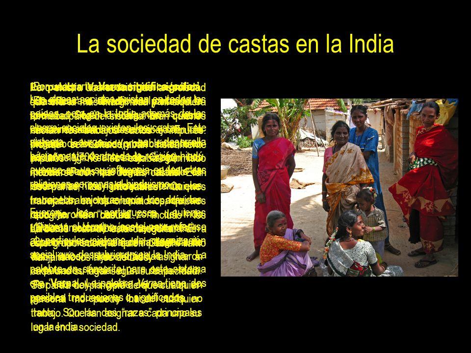 La sociedad de castas en la India