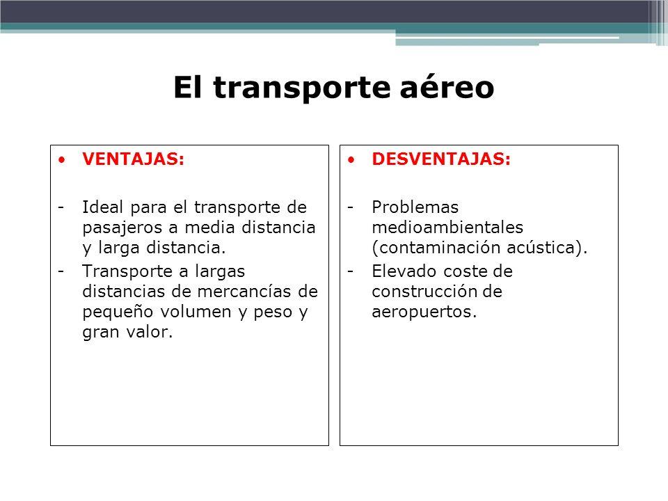 El transporte aéreo VENTAJAS: