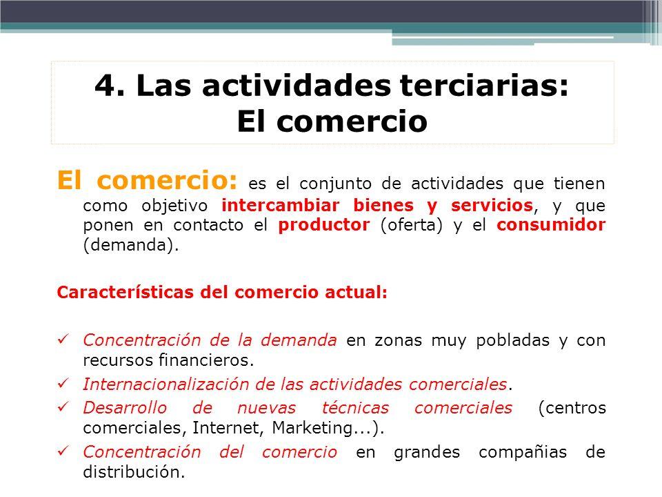 4. Las actividades terciarias: