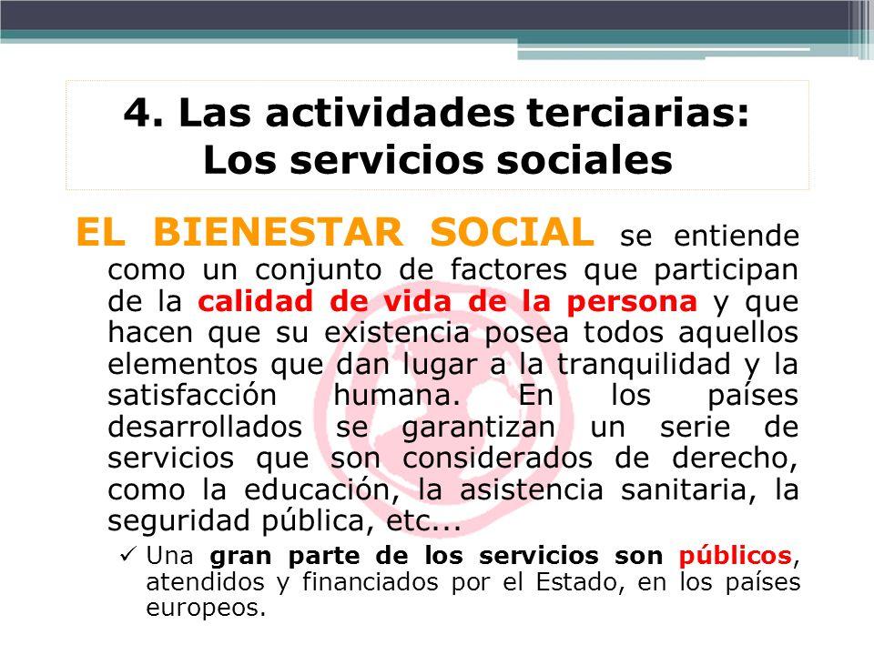 4. Las actividades terciarias: Los servicios sociales