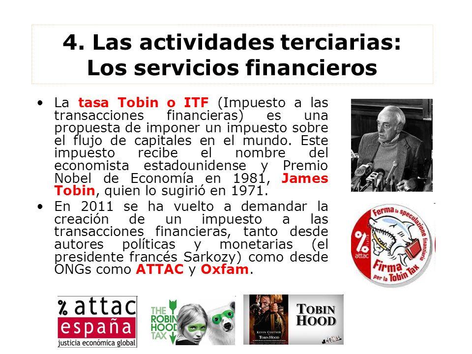 4. Las actividades terciarias: Los servicios financieros