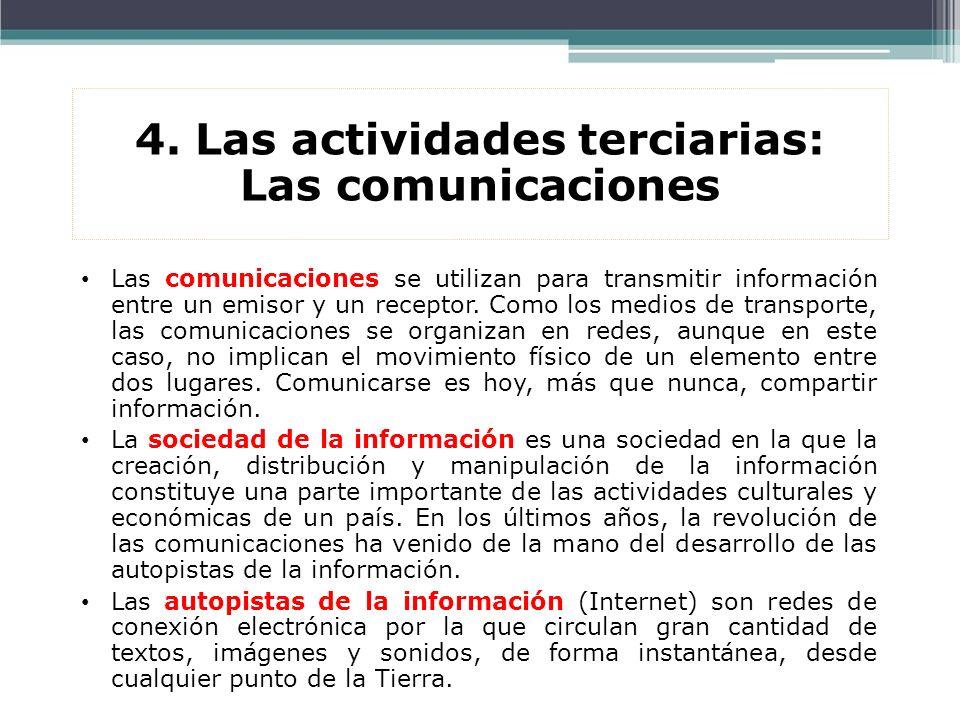 4. Las actividades terciarias: Las comunicaciones