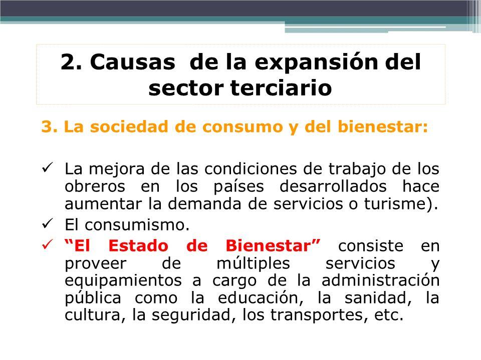 2. Causas de la expansión del sector terciario