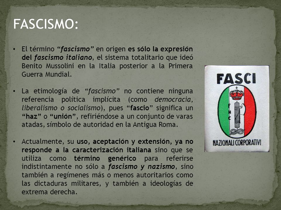 FASCISMO: