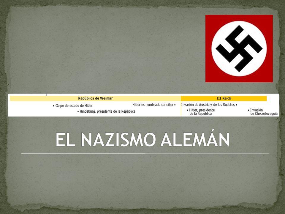 EL NAZISMO ALEMÁN