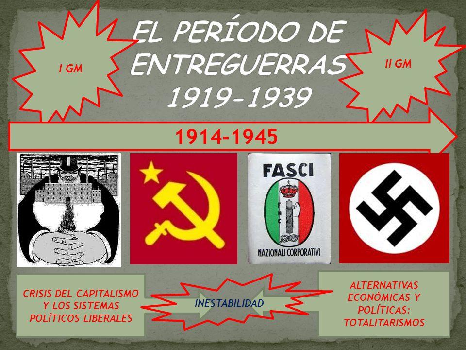 EL PERÍODO DE ENTREGUERRAS 1919-1939