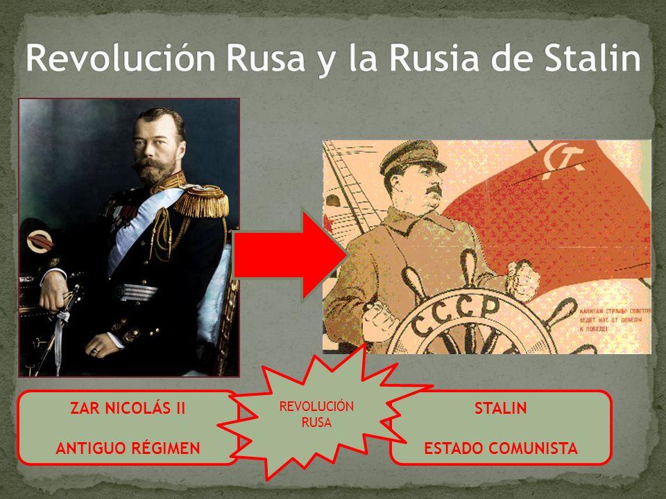 Revolución Rusa y la Rusia de Stalin