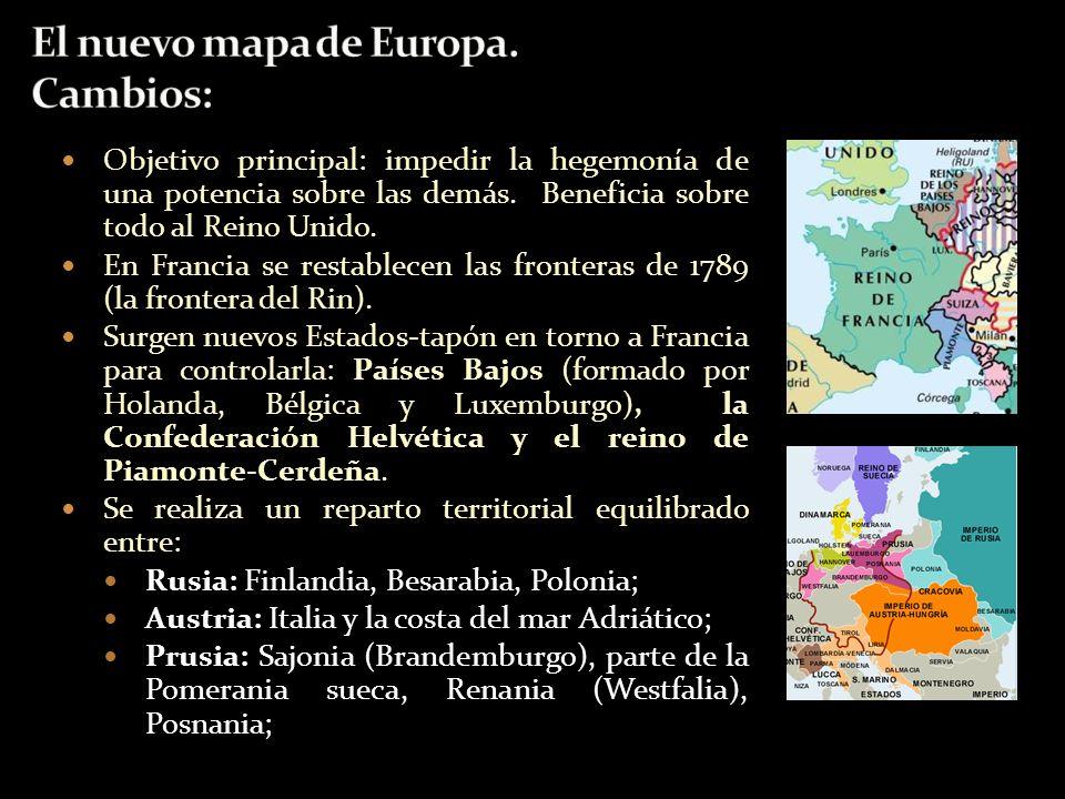 El nuevo mapa de Europa. Cambios: