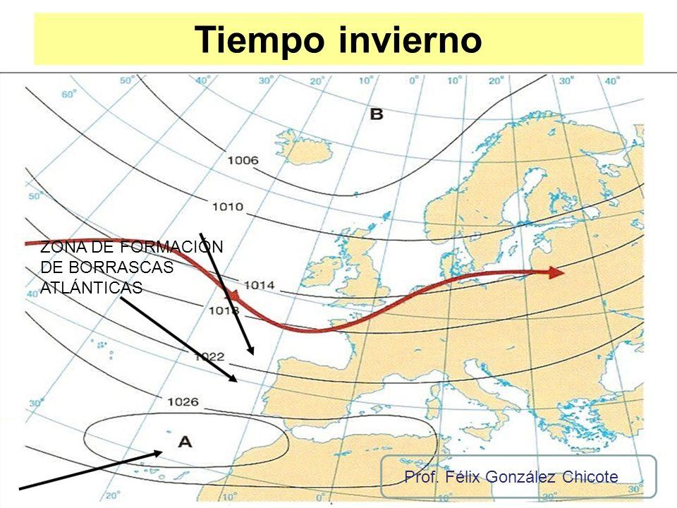 Tiempo invierno ZONA DE FORMACIÓN DE BORRASCAS ATLÁNTICAS