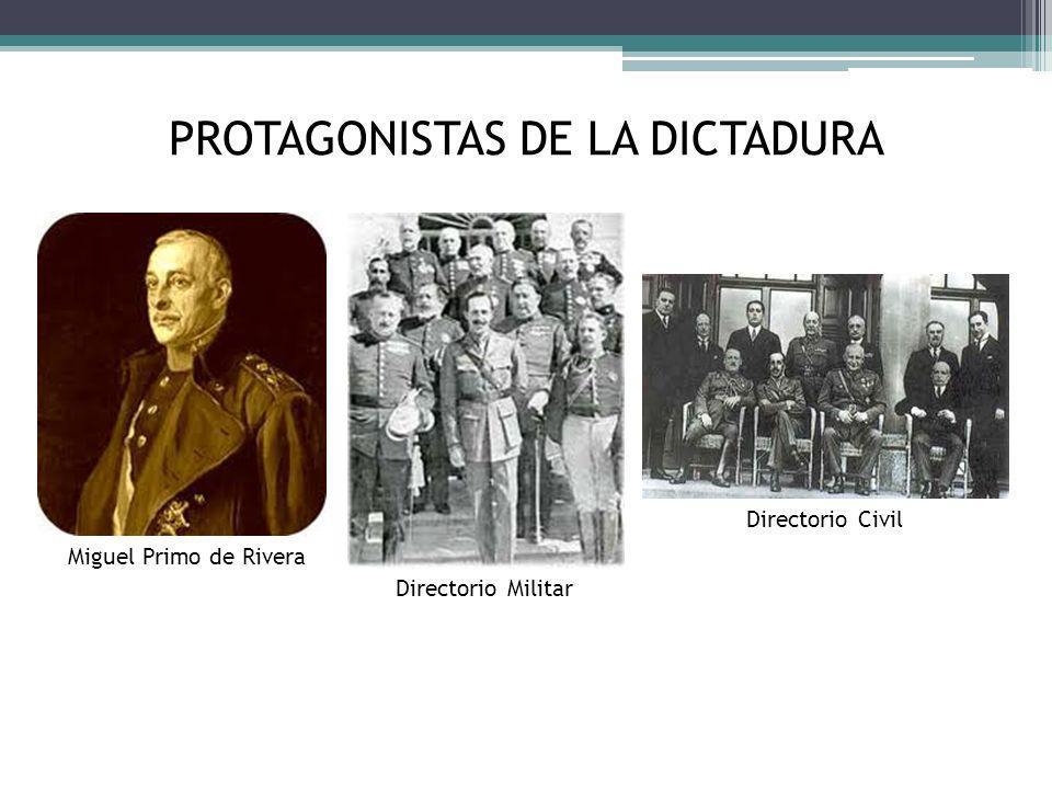 PROTAGONISTAS DE LA DICTADURA