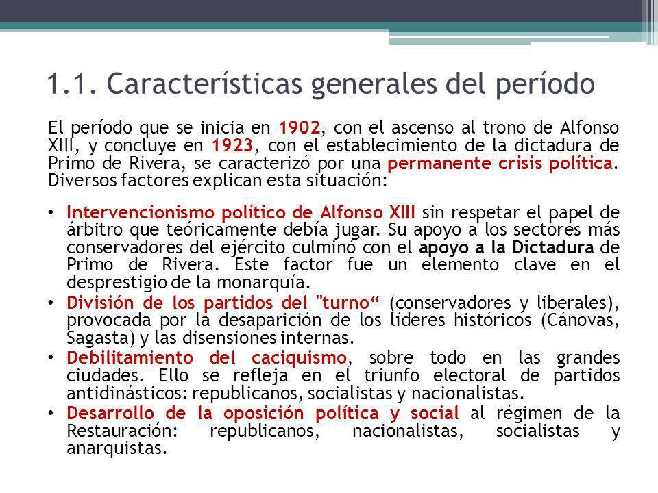 1.1. Características generales del período