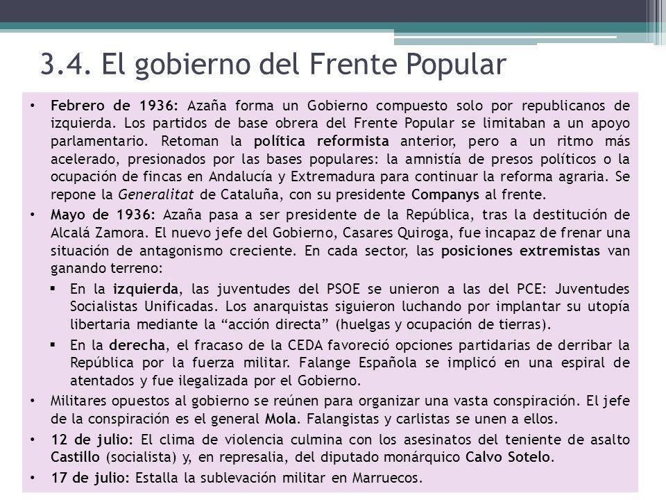 3.4. El gobierno del Frente Popular