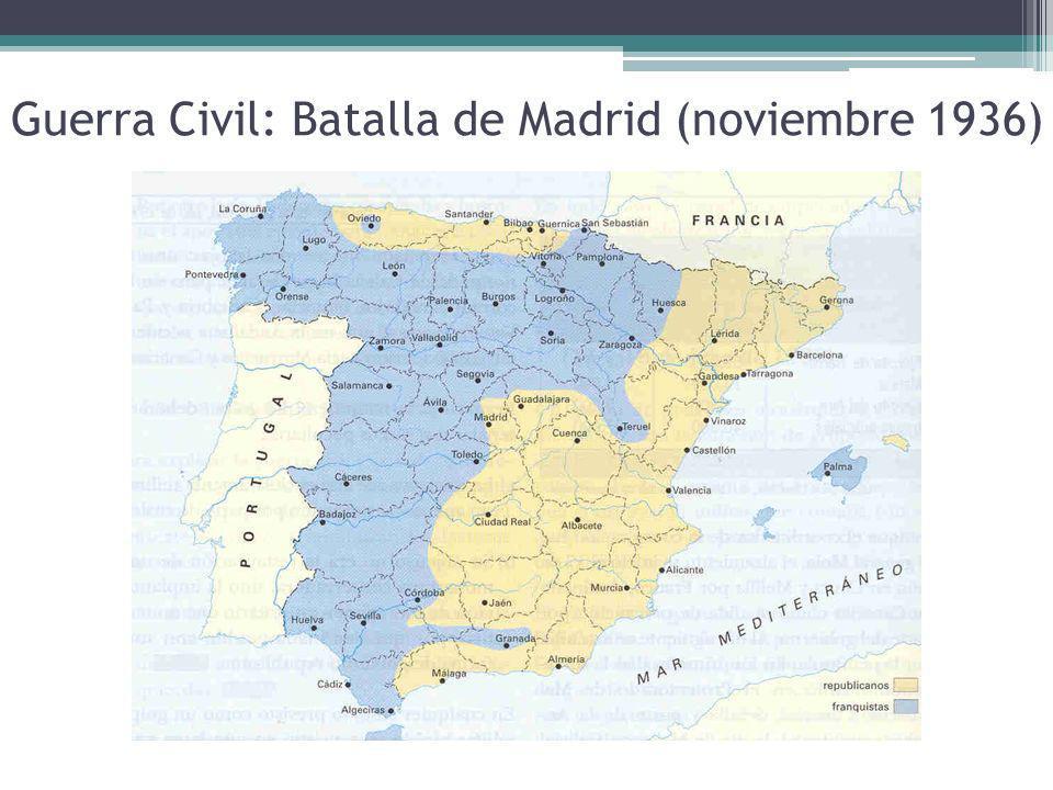 Guerra Civil: Batalla de Madrid (noviembre 1936)