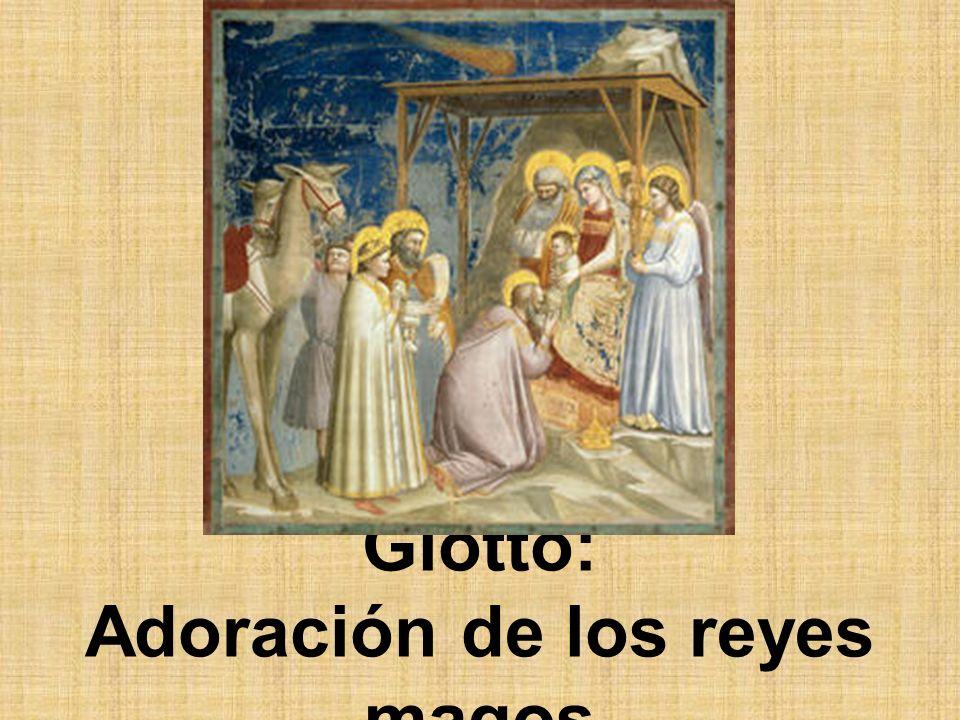 Giotto: Adoración de los reyes magos