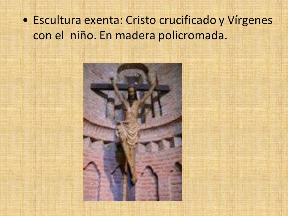 Escultura exenta: Cristo crucificado y Vírgenes con el niño