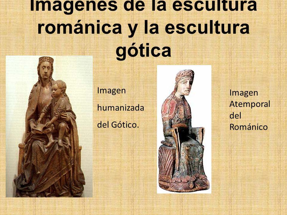Imágenes de la escultura románica y la escultura gótica