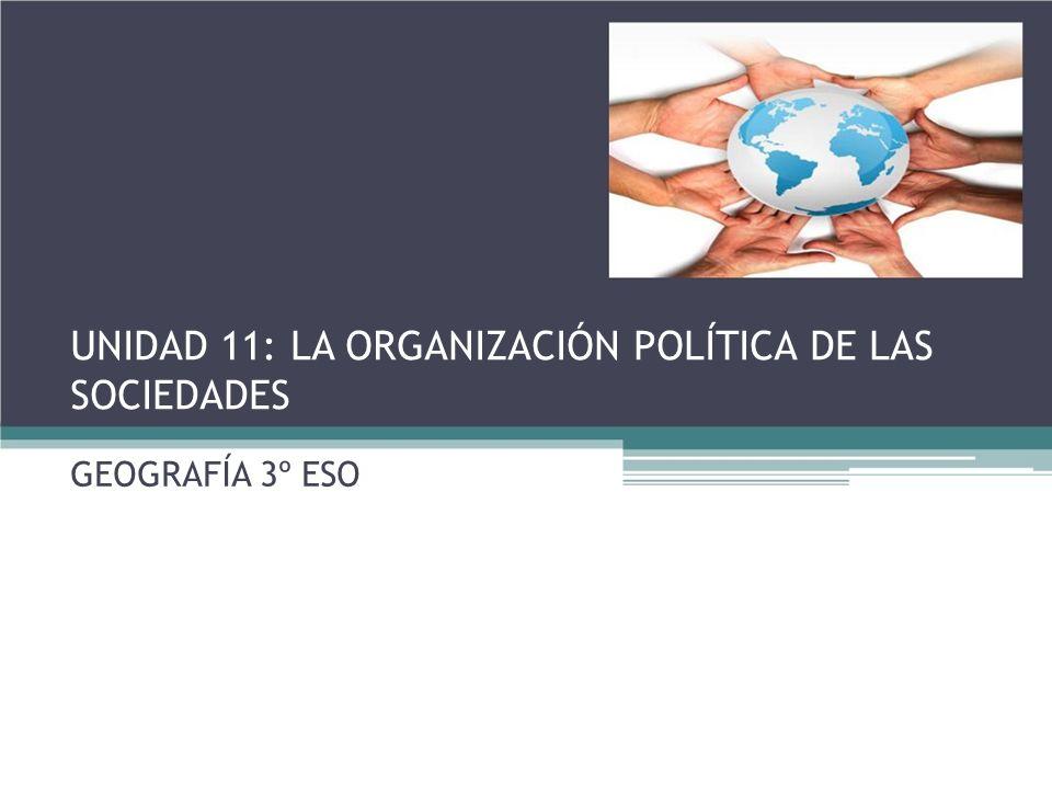 UNIDAD 11: LA ORGANIZACIÓN POLÍTICA DE LAS SOCIEDADES