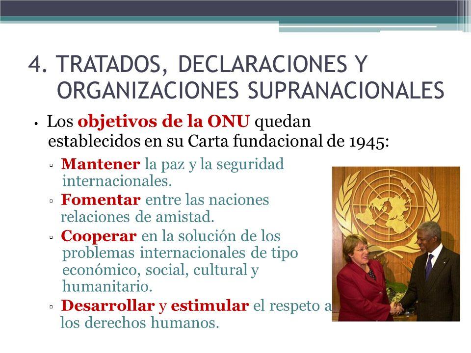 4. TRATADOS, DECLARACIONES Y ORGANIZACIONES SUPRANACIONALES