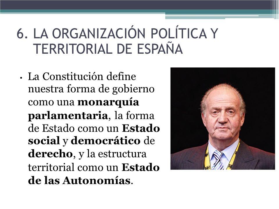 6. LA ORGANIZACIÓN POLÍTICA Y TERRITORIAL DE ESPAÑA
