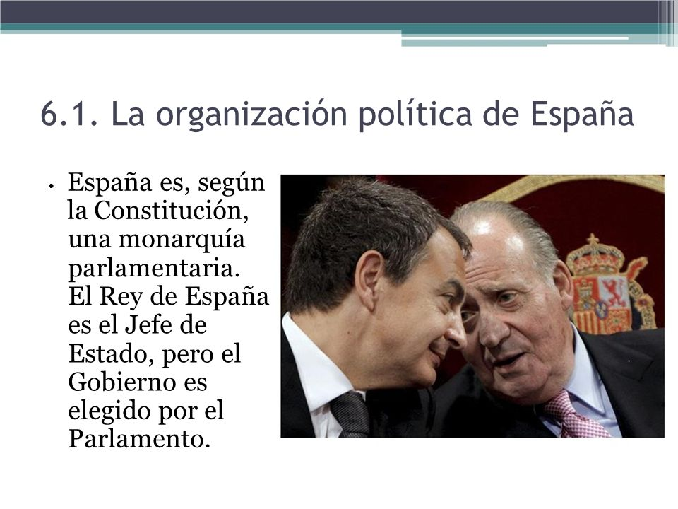 6.1. La organización política de España