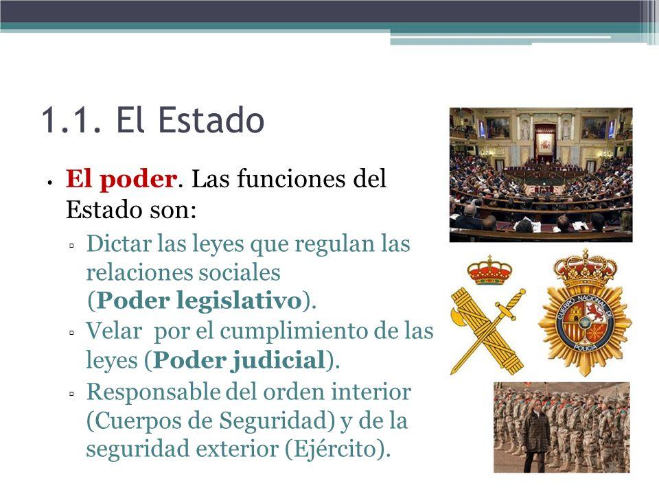 1.1. El Estado (Poder legislativo).